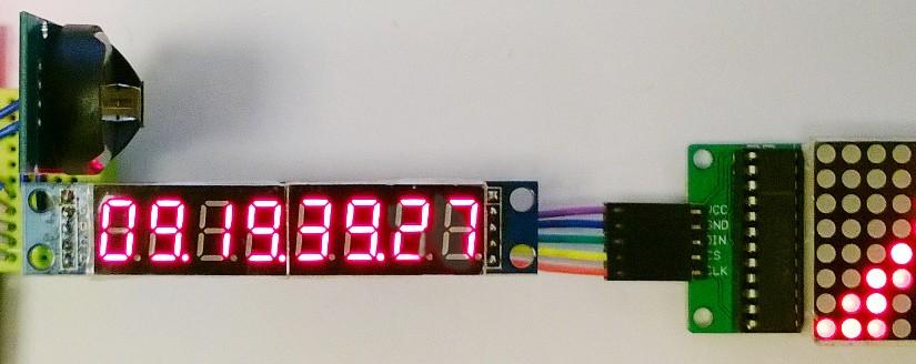 8×8 LED matrix as secondary display