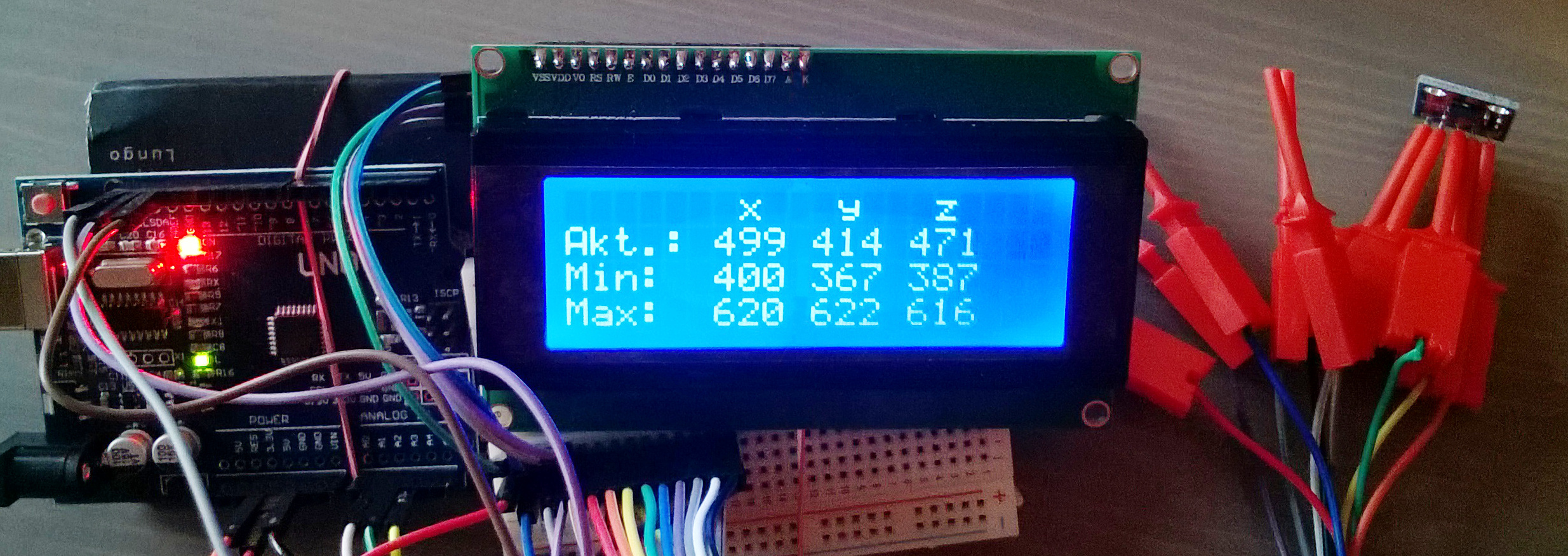 ADXL335 I2C 2004 LCD – Easy Arduino