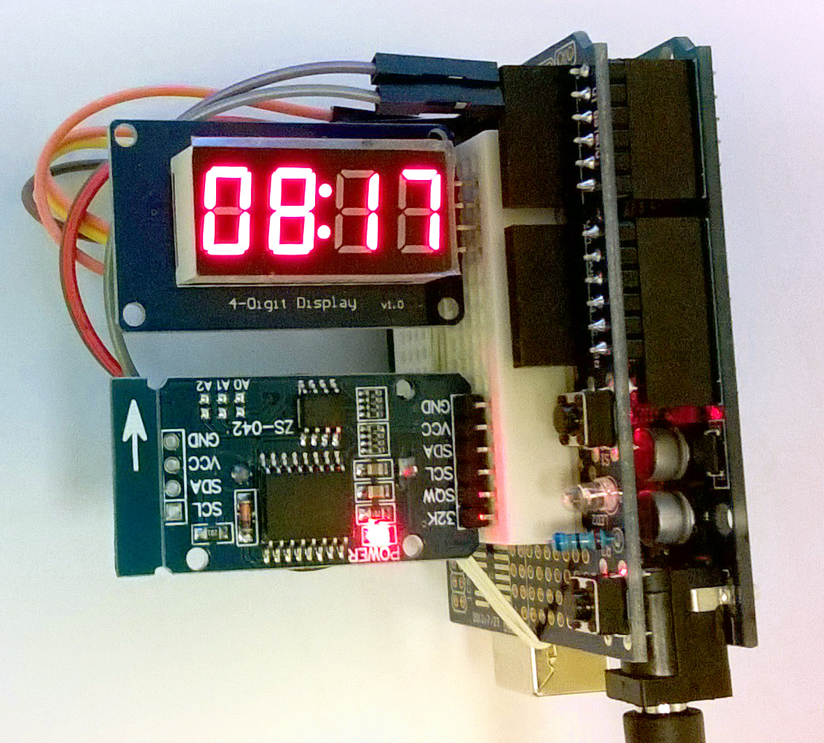 Arduino - TM1637 7 Segment Display DHT11 Temp Sensor