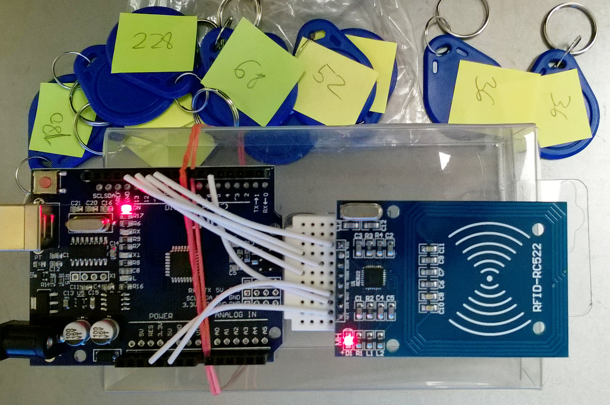 Rfid rc test easy arduino